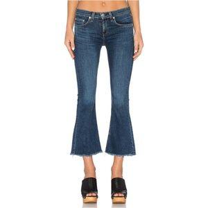 Rag & Bone Crop & Flare Jean's Size 31